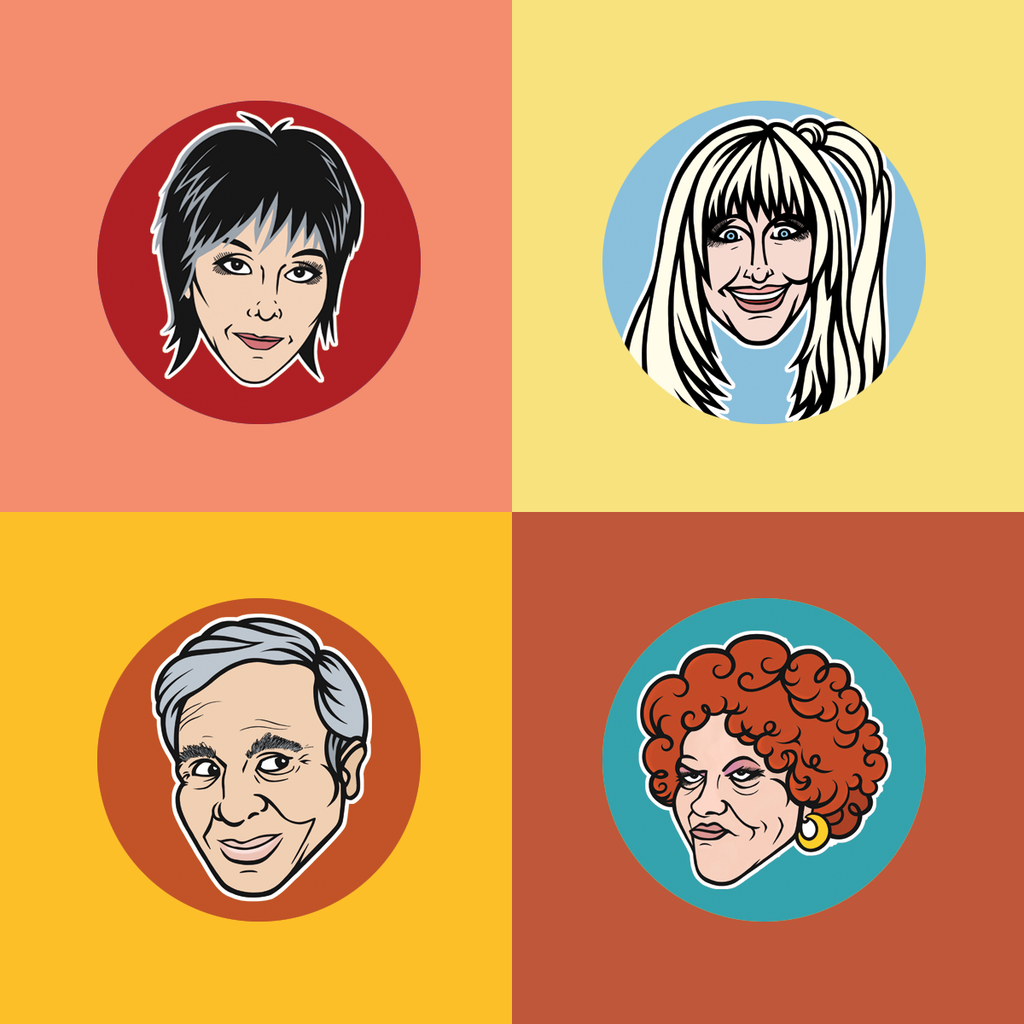Three's Company Buttons 8-Pack - Series 1 & 2