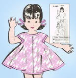 1950s Vintage Mail Order Sewing Pattern 1-443 Uncut Easy Toddler Girls Dress Sz3