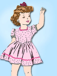 1940s Vintage Mail Order Sewing Pattern 2005 Toddler Girls WWII Party Dress Sz 2 - Vintage4me2