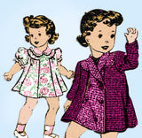 1930s Vintage Mail Order Sewing Pattern 2043 Baby Girls Dress and Coat Size 1
