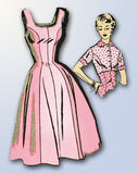 1950s Vintage Mail Order Sewing Pattern 2269 Misses Princess Cut Sun Dress 36 B