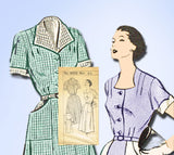 Fashion Service 2373: 1950s Ladies Plus Size Dress 40 B Vintage Sewing Pattern - Vintage4me2