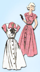 1940s Vintage Mail Order Sewing Pattern 2443 Misses Easy Street Dress Sz 14 32B - Vintage4me2