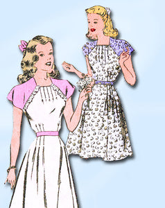 1940s Vintage Misses' Easy Dress 1946 Mail Order Sewing Pattern 2618 Size 14