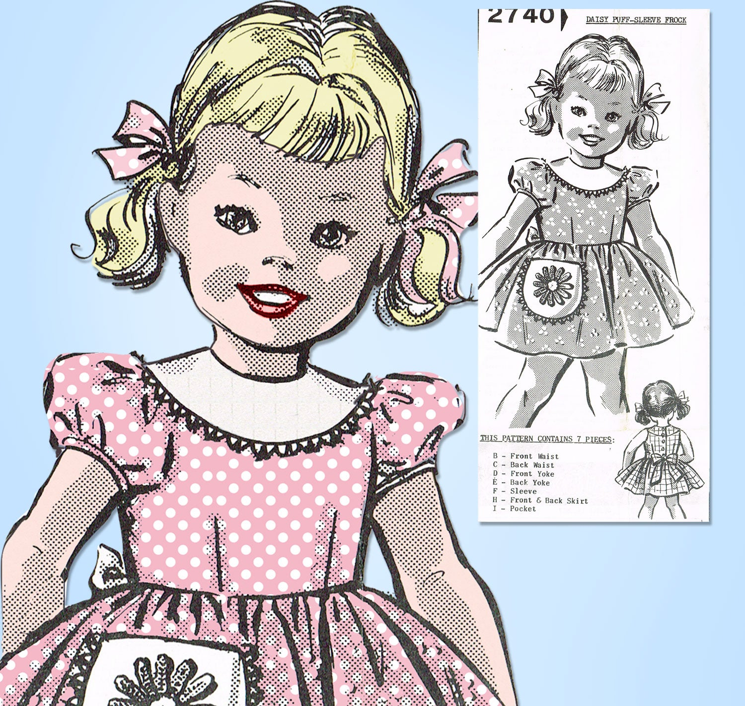 2 Pink and Brown Vintage Reproduction Pattern OOAK Little Girls Dress Hand Crocheted Sz