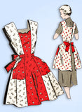 1950s Vintage Fashion Service Sewing Pattern 2758 Misses Princess Apron Sz Small