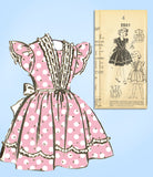 Fashion Service 2801: 1940s Uncut Toddler Girls Dress Sz4 Vintage Sewing Pattern - Vintage4me2