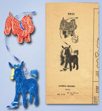 1940s Vintage Mail Order Sewing Pattern 2855 Dog and Horse Stuffed Animals ORIG - Vintage4me2