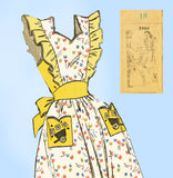 Mail Order 2905: 1940s Charming Misses Pinafore Apron 34B Vintage Sewing Pattern