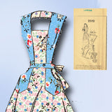 1940s Vintage Fashion Service Sewing Pattern 2910 Misses Full Apron Size 36 38 B