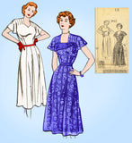 Fashion Service 2923: 1950s Misses Dinner Dress Size 30 B Vintage Sewing Pattern - Vintage4me2