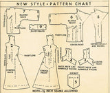 1950s Vintage Mail Order Sewing Pattern 2942 Uncut Misses Jumper Dress Size 35 B