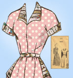 1940s Vintage Fashion Service Sewing Pattern 3044 Uncut Misses Street Dress 30 B