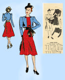 Mail Order 3071: 1930s Misses Dress & Bolero Jacket 36B Vintage Sewing Pattern