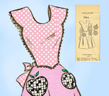 Mail Order 3084: 1940s Uncut Misses Full Bib Apron 32-34B Vintage Sewing Pattern