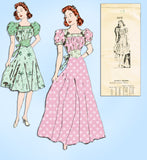 1930s Vintage Mail Order Sewing Pattern 3313 Uncut Misses Evening Gown Size 35 B
