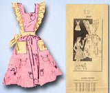 1940s Vintage Mail Order Sewing Pattern 3409 WWII Misses Pinafore Apron Dress 12 - Vintage4me2