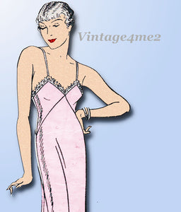 Mail Order 3416: 1930s Misses Bias Cut Slip Size 34 Bust Vintage Sewing Pattern