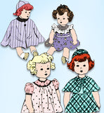 1930s Original Vintage Mail Order Sewing Pattern 3756 Cute 18in Doll Clothes Set