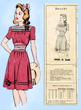 1940s Vintage Mail Order Sewing Pattern 3WS-131 WWII Girls Dress Size 9 - Vintage4me2