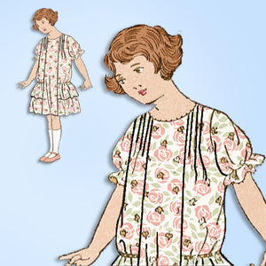 1920s Vintage Mail Order Sewing Pattern 4016 Uncut Little Girls Dress Size 8