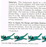 1930s Spool Cotton 429 Uncut Cuddle Toys Cat & Dog Embroidery Transfer Patterns