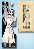 1940s Vintage Anne Adams Sewing Pattern 4463 WWII Misses Street Dress Sz 18 36B - Vintage4me2