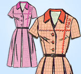 1960s Vintage Anne Adams Sewing Pattern 4500 Uncut Misses Shirtwaist Dress 35 Bust