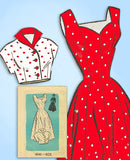 1950s Vintage Anne Adams Sewing Pattern 4543 Misses Princess Cut Sun Dress 36 B