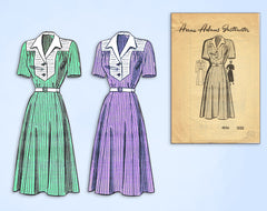 1950s Original Vintage Anne Adams Pattern 4556 Womens Plus Size Street Dress 40B