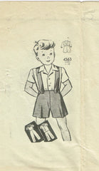 1940s Original Vintage Anne Adams Pattern 4563 WWII Toddler Boys Suit Size 4