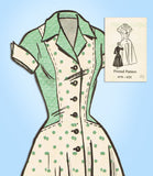 1950s Vintage Mail Order Sewing Pattern 4579 Plus Size Rockabilly Dress 40 Bust