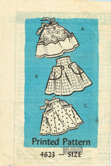 1950s Original Vintage Anne Adams Pattern 4623 Misses Cocktail Apron Set Sz Med