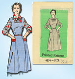 1950s Vintage Anne Adams Sewing Pattern 4654 Plus Size Jumper Dress Size 43 Bust