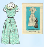1950s Vintage Anne Adams Sewing Pattern 4691 Uncut Misses Day Dress Size 34 Bust