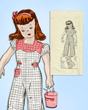https://all-original-vintage4me2-patterns1940s Vintage Anne Adams Sewing Pattern 4694 Cute Toddler Girls Coveralls Size 4 - Vintage4me2