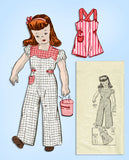 1940s Vintage Anne Adams Sewing Pattern 4694 Cute Toddler Girls Coveralls Size 4 - Vintage4me2
