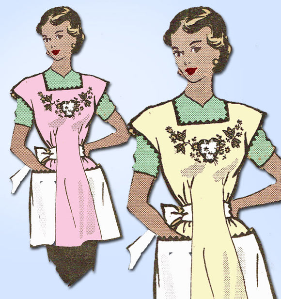 1950s Vintage Anne Adams Sewing Pattern 4705 Uncut Misses Coverall Apron MED