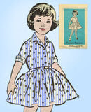 wing Pattern 4747 Cute Toddler Girls Dress Sz 6 - Vintage4me2