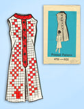 1960s Vintage Mail Order Sewing Pattern 4753 Uncut Plus Size Sheath Dress 43 B