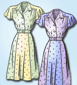 1940s Vintage Anne Adams Mail Order Sewing Pattern 4810 Misses Dress Sz 20 - Vintage4me2