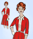1960s Vintage Mail Order Sewing Pattern 4816 Women's Street Dress Size 37 Bust