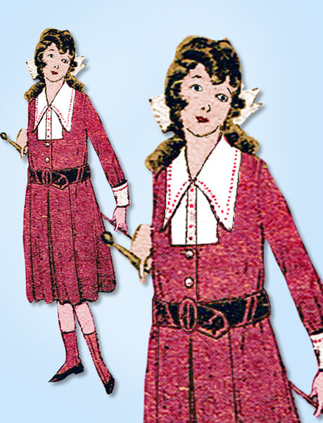1910s Antique Mail Order Sewing Pattern 4860 Junior Girls Edwardian Dress Sz 14