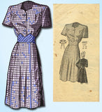 1940s Vintage Anne Adams Sewing Pattern 4882 Plus Size WWII Dress Size 42 Bust - Vintage4me2