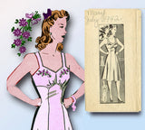 1940s Vintage Anne Adams Sewing Pattern 4945 Misses Slip with Bra Top Sz 32 Bust