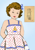 1940s ORIG Vintage Mail Order Sewing Pattern 4947 Toddler Girls Sun Dress Size 4