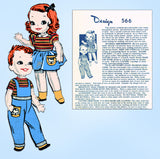 1950s Vintage Laura Wheeler Transfer Pattern 566 Uncut Brother Sister Sock Dolls
