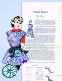 1950s Vintage Mail Order Transfer & Sewing Pattern 7202 Uncut Misses Apron