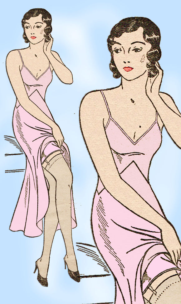 Own Name 772: 1930s Stunning Misses Slip Size 34 Bust Vintage Sewing Pattern - Vintage4me2