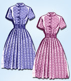 1950s Vintage Mail Order Sewing Pattern 8040 Misses Shirtwaist Dress Size 11 29B